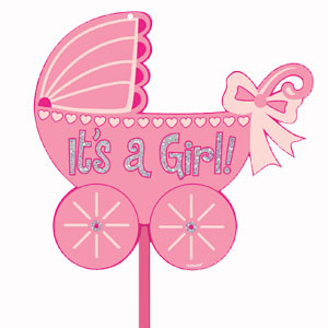 Glitter Baby Girl Yard Sign