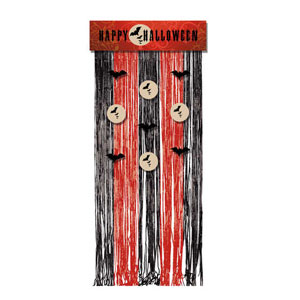 Frightful Night Door Curtain- 72in