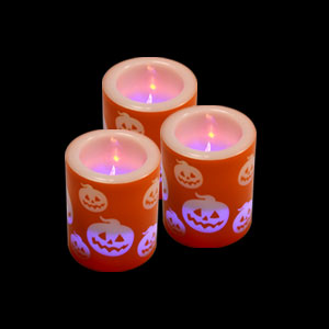 LED Votive Candle - Pumpkins