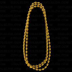 Football Shape Beads- Metallic Gold