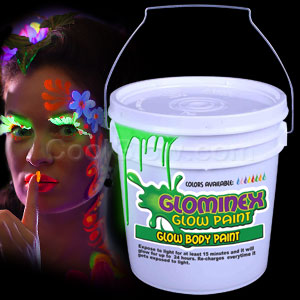 Glominex Glow Body Paint 128oz Bucket - Green