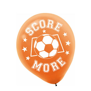 Soccer Printed Latex Balloons- 20ct