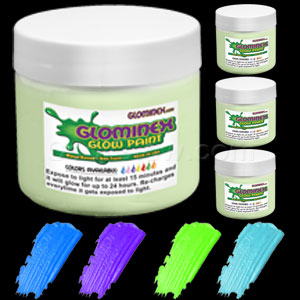 Glominex Glow Paint Pints - Invisible Day Assorted