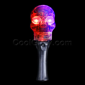 LED Crystal Skull Wand