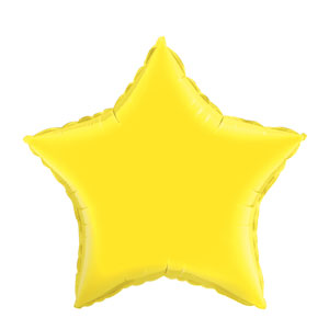 20 Inch Star Metallic Balloon - Yellow