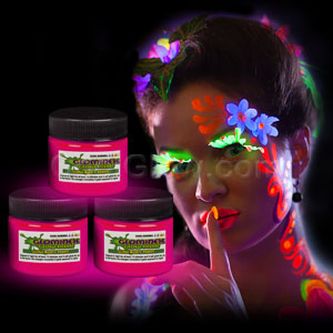 Glominex Glow Body Paint 1 oz Jar - Pink