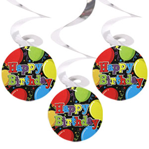 Swirl 24 inch Dangle - Birthday Balloons