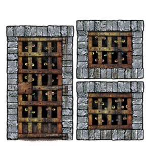 Dungeon Dweller Wall Props - 3ct