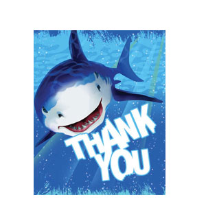 Shark Splash Thank You Cards- 8ct