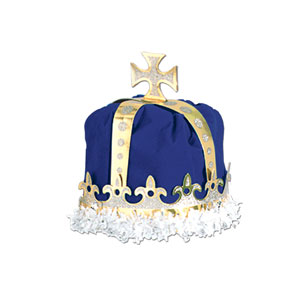 Royal King Crown - Blue