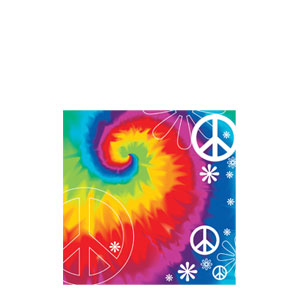Tie Dye Beverage Napkins- 18ct