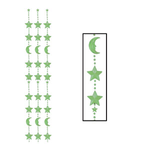 Moon And Star Door Curtain - Glow in the Dark