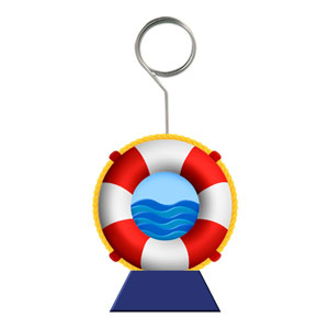Life Preserver Photo and Balloon Holder- 6oz