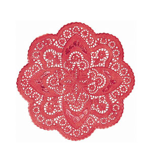 Decorative Red Foil Doilies