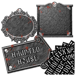 Gothic Mansion Customizable Cutouts- 12 Inch 3ct