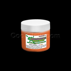 Glominex Glow Paint 4 oz Jar Orange