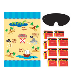 Treasure Map Pin Game- 4PC
