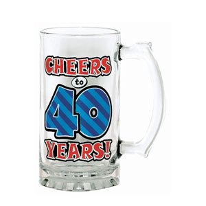 40 Cheers Glass Tankard- 15oz