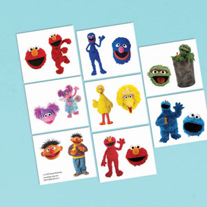 Sesame Street Tattoo Favors- 16ct