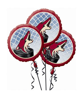 Phoenix Coyotes 3 Pack Balloons- 18in