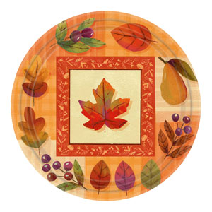 Watercolor Leaves 9 Inch Plates