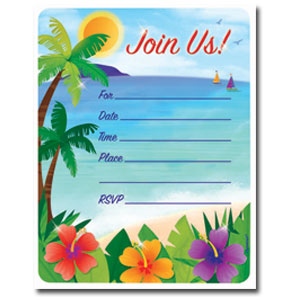 Summer Scene Invitations- 50ct