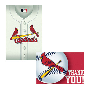 St. Louis Cardinals Invitations and Thank You Cards Set- 16ct