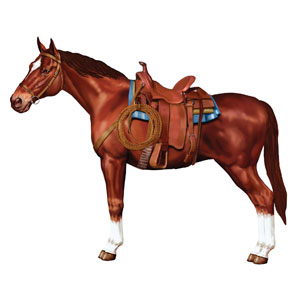 Jointed Horse Cutout- 38in