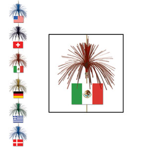 International Flag Firework Stringer- 7ft