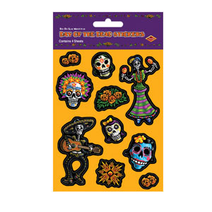 Day of the Dead Stickers - 4ct