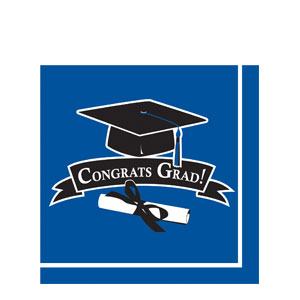 Grad Luncheon Napkins - Blue