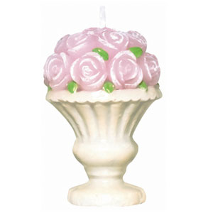 Pretty Petals Decorative Candle