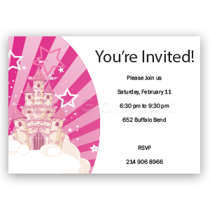 Fairytale Castle - Custom Invitations