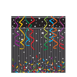 New Year Sparkle Plastic Tablecover