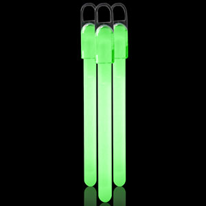 6 Inch Standard Glow Sticks - Green