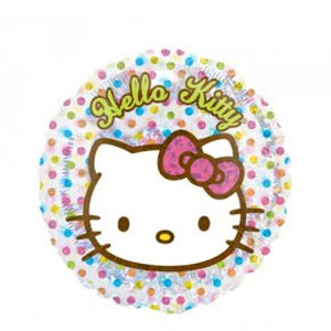 Hello Kitty Birthday Dots Balloon- 18 Inch