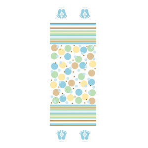 Tiny Toes Blue Tablecover