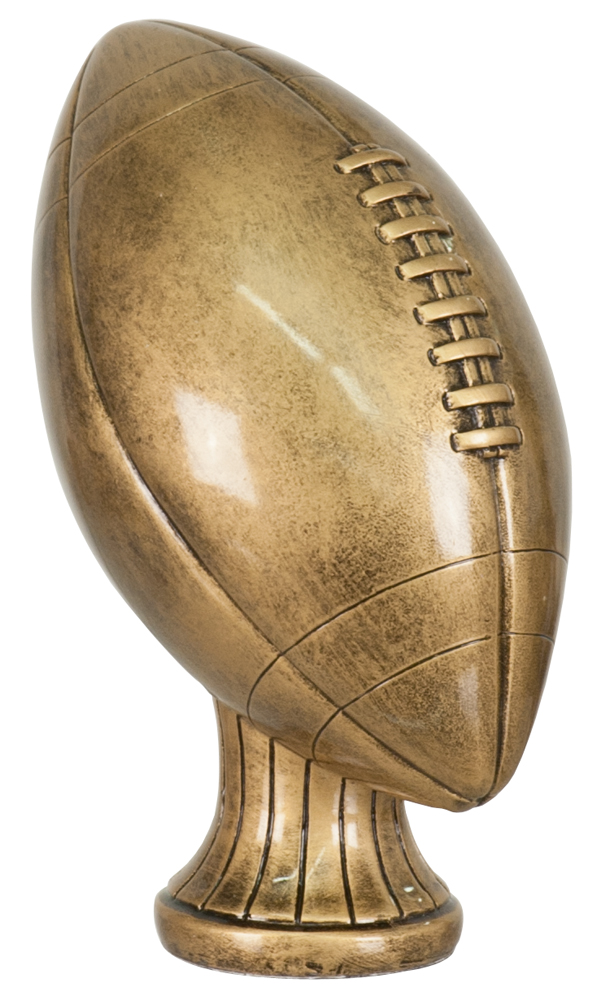 5 3/4 inch Antique Gold Football Resin