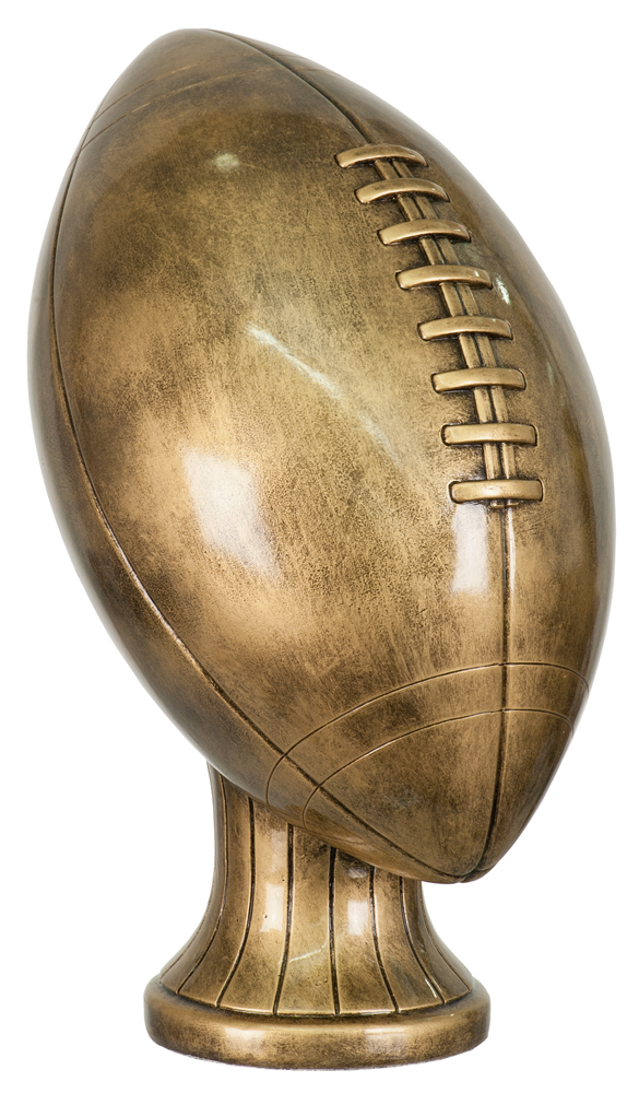 11 inch Antique Gold Football Resin