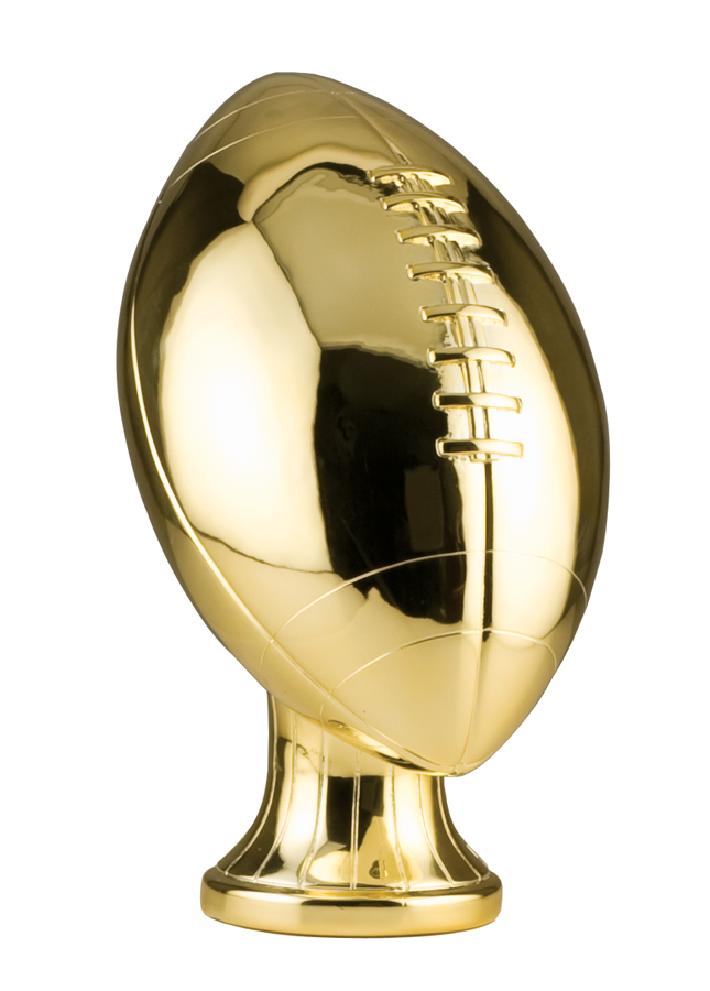 11 inch Gold Metallized Football Resin