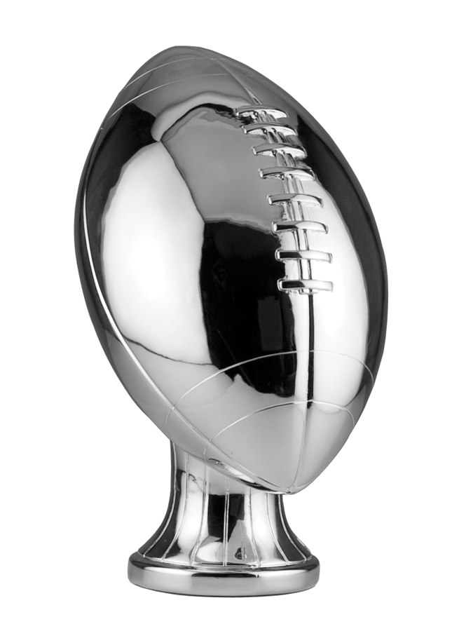 11 inch Silver Metallized Football Resin