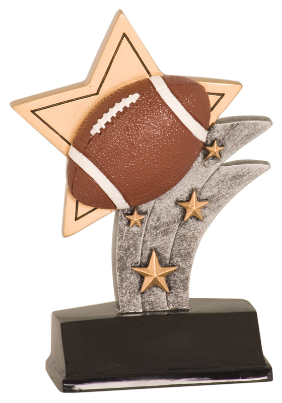 5 1/2 inch Football Sport Star Resin