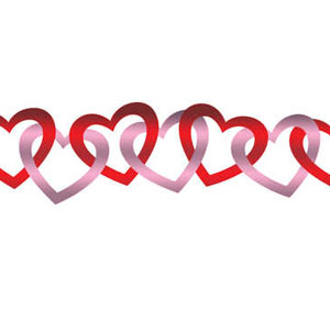 Colored Hearts Foil Garland