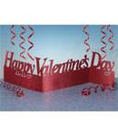 Valentine's Day Glitter Accordion Centerpiece