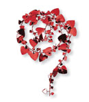 Large Hearts Wire Garland