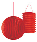 Lantern Assortment - Red