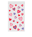 Heart Treat Bags with Zipper