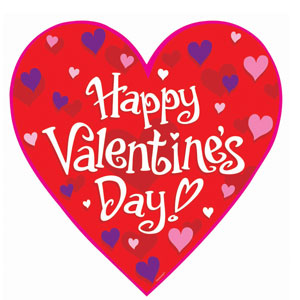 Happy Valentine's Day Cutout