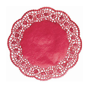 Red Foil Doilies