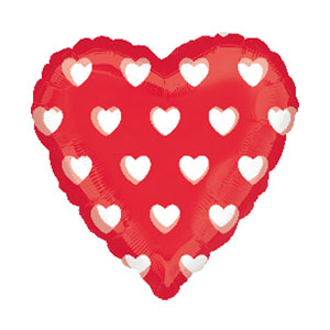 Polka Hearts Magicolor Balloon- 18 Inch